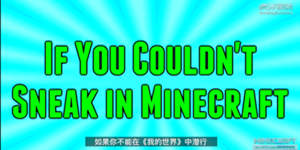 我的世界同人动画《如果你在MC中不能潜行》